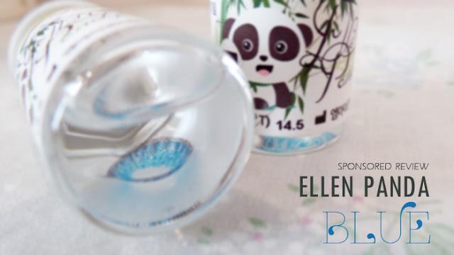 Ellen Panda Blue EX 12 Aqua Klenspop review korean circle lens