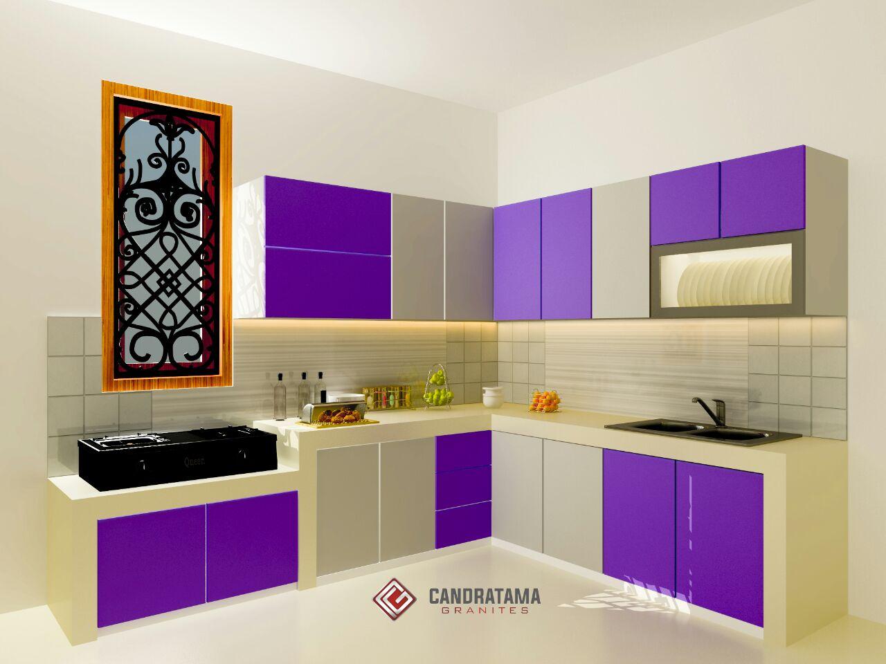 3 Desain Kitchen Set Warna Ungu Kitchen Set Nganjuk Kitchen Set