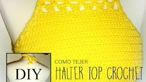 Halter top crochet / Tutorial en español