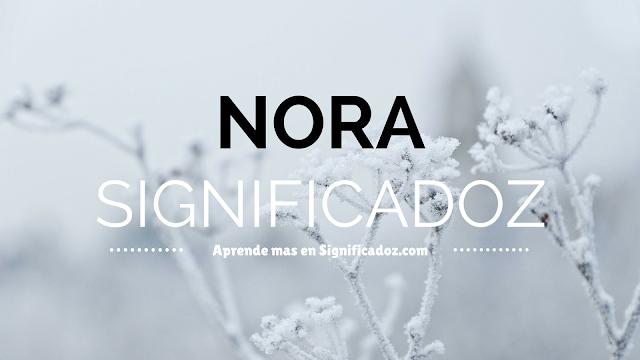 Significado y Origen del Nombre Nora ¿Que Significa?