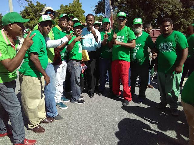 """Presidente del PRM en Barahona Ing. Montero Arias participó de la Marcha Verde en Barahona """"la calificó como exitosa""""."""
