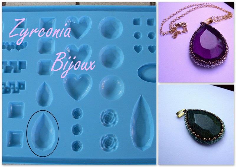 Super Zyrconia Bijoux: Patterns Beads: Goccia resina - Stampi Gedeo - SR26