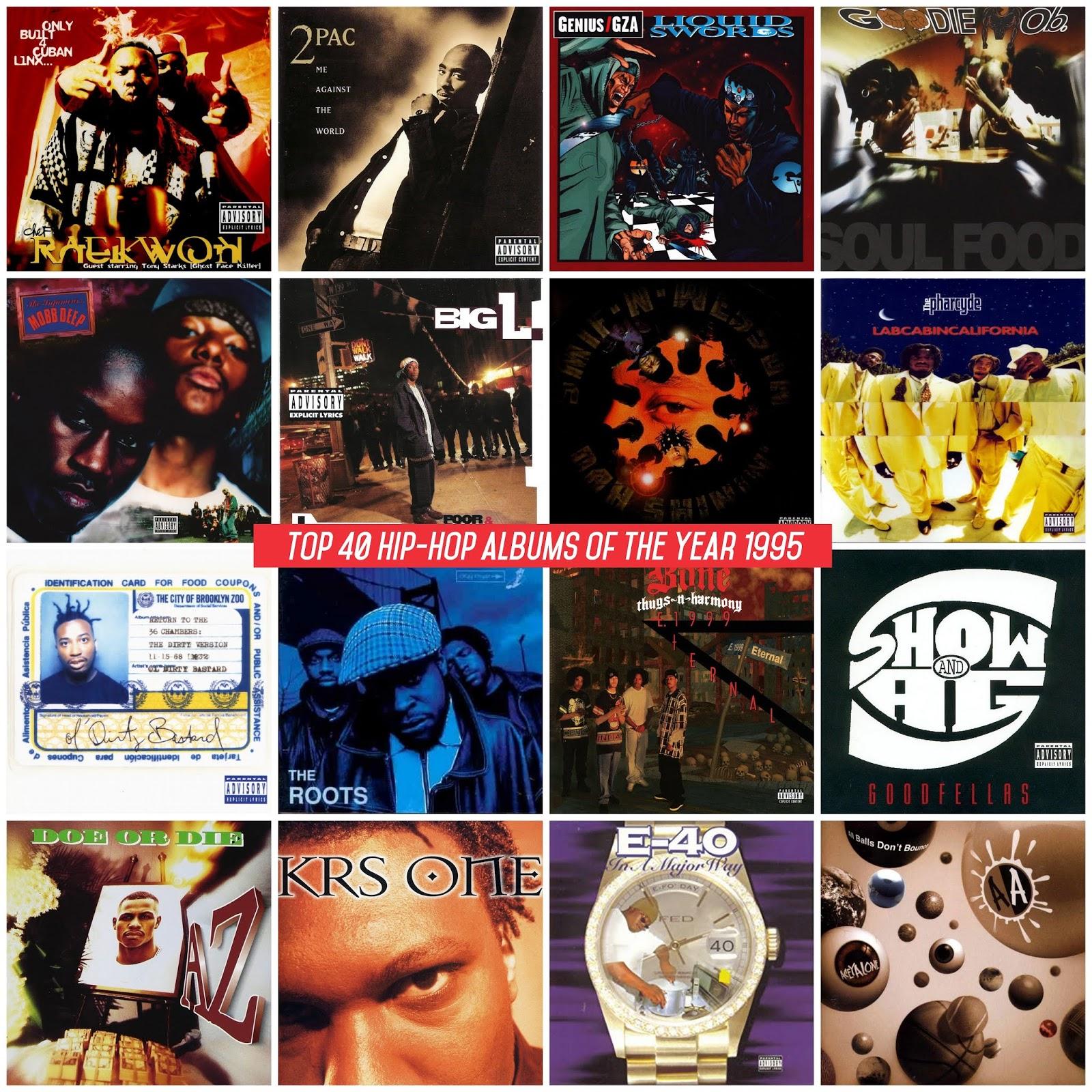65e02cd5005 Los mejores álbumes de Hip-Hop del año 1995 según la página Hip-Hop Golden  Age. Si quieres saber las razones y las canciones favoritas de cada álbum  visita ...