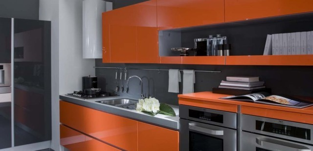 Decoracin de Cocinas en Color Naranja