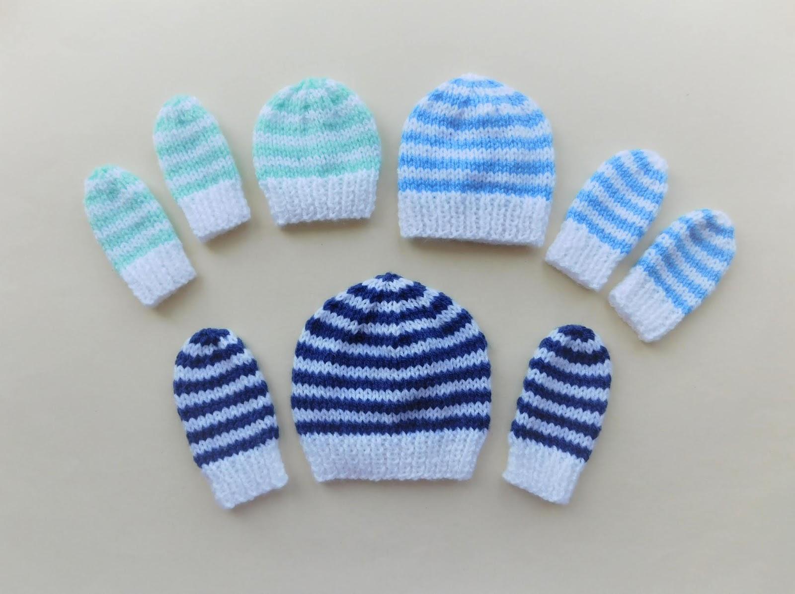 e32285546db17 Marianna s Lazy Daisy Days  Simple Stripes ~ Preemie Baby Beanie Hat ...