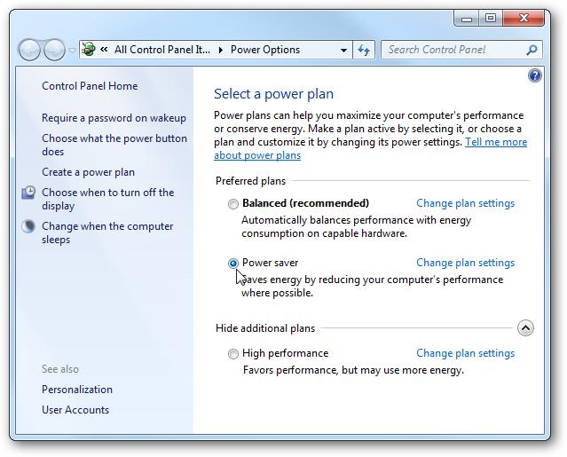 Mengatur Power Options di Windows 7