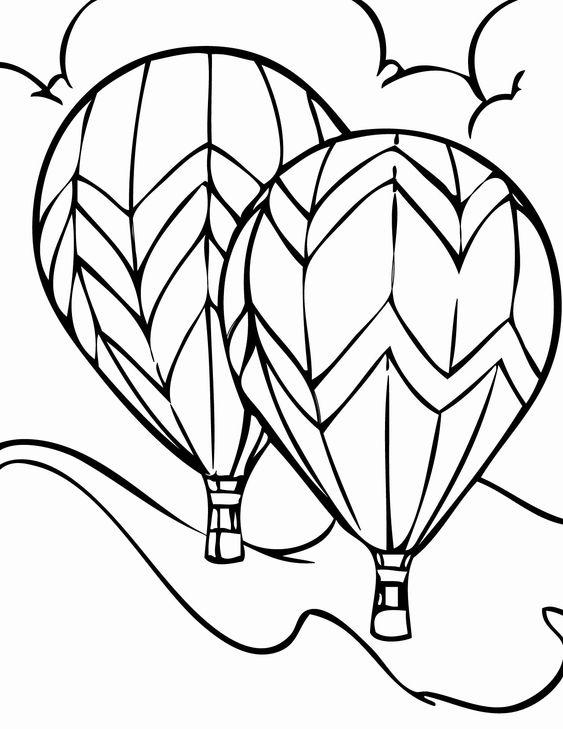Tranh tô màu khinh khí cầu