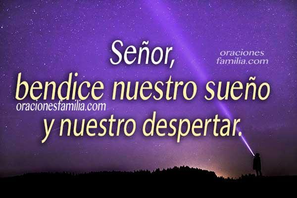 Oraciones de la noche, frases con plegaria al dormir en la noche, imágenes cristianas con oración corta nocturna por Mery Bracho.