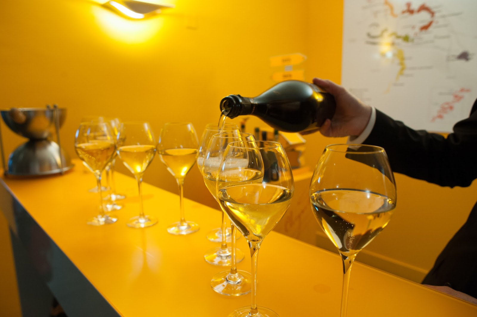 Tasting at Veuve Cliquot Champagne Cave Tour Outside Paris in Reims