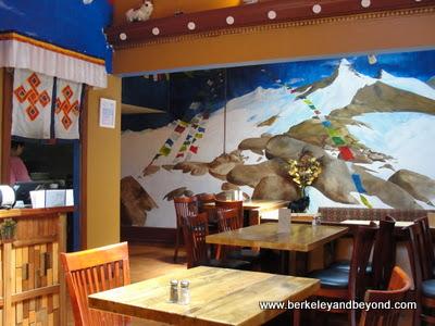 interior of Nomad Tibetan Restaurant in Berkeley, California
