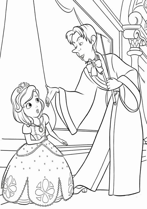 Tranh cho bé tô màu ông chúa Sofia 11