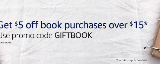 Amazon: Get $5 off book purchases over $15 by using promo code GIFTBOOK