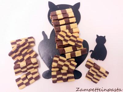 Biscotti a scacchi - Biscotti bianchi e neri