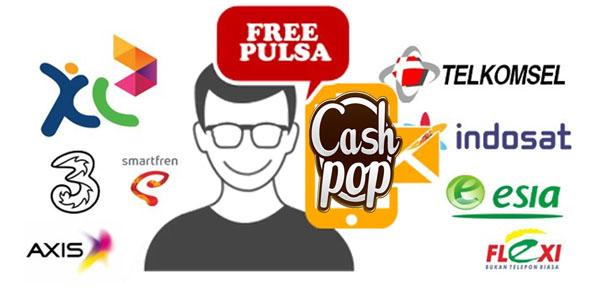 CashPop: Dapatkan Hadiah Pulsa Gratis All Operator Pada Smartphone   hitzpedia