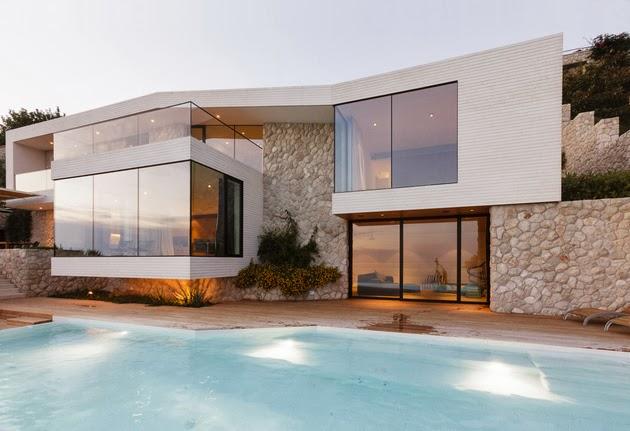 Desain Villa Glamor Kontemporer