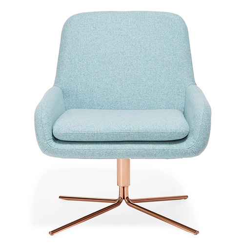 Softline Sky Blue Swivel Square Chair from abc carpet & home
