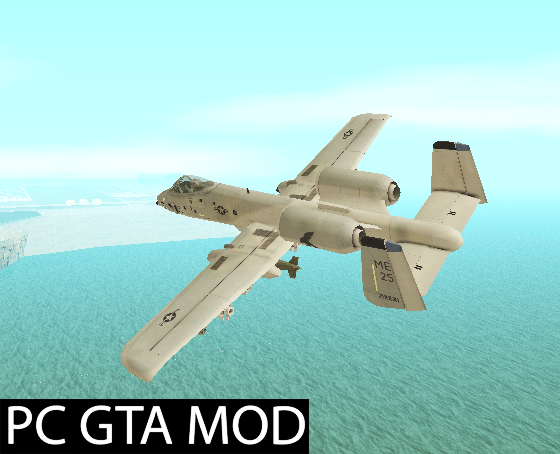 Free Download  A-10 Warthog  Mod for GTA San Andreas.