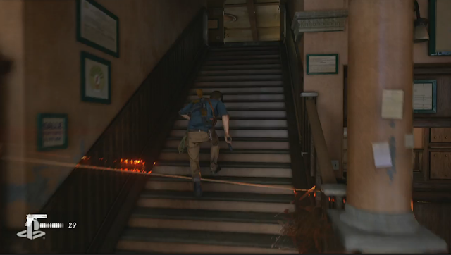 Uncharted 4: A Thief's End stairs Nathan Drake Sony PlayStation E3 2015 screenshot