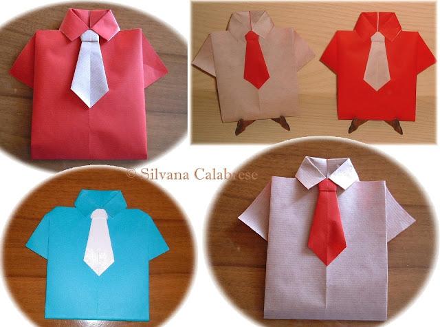 Origami Camicia e cravatta Silvana Calabrese - Blog