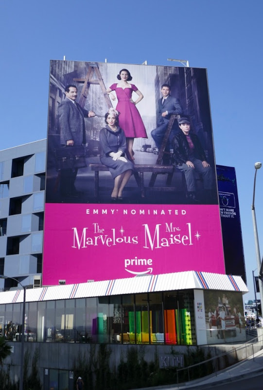 Marvelous Mrs Maisel 2018 Emmy nominee billboard
