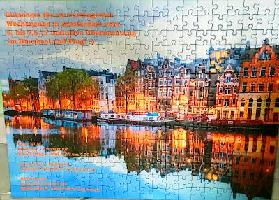 Weihnachtsgeschenk, Geburtstagsgeschenk, Puzzle Amsterdam als Gutschein