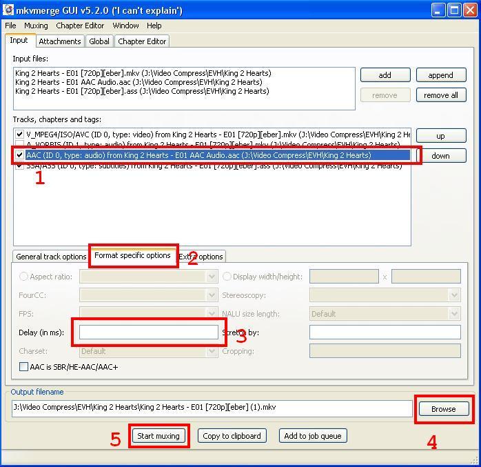 Format specific options mkv merge gui download