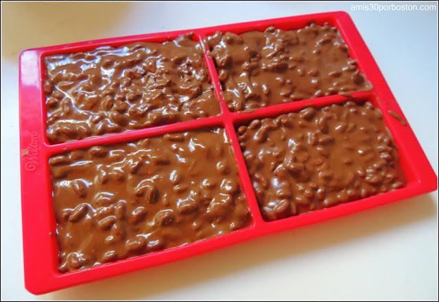 Receta de Turrón de Chocolate y Arroz Inflado