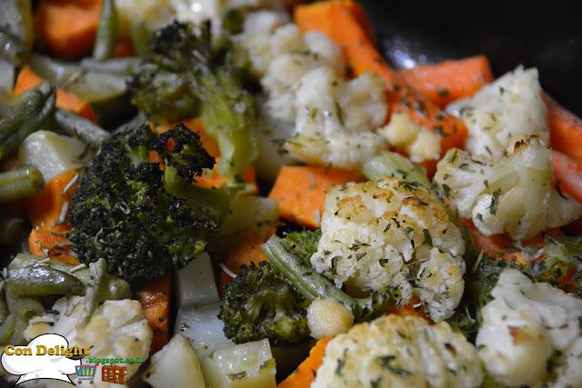 baked vegetables ירקות אפויין בתנור