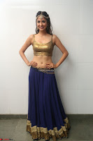 Malvika Raaj in Golden Choli and Skirt at Jayadev Pre Release Function 2017 ~  Exclusive 003.JPG