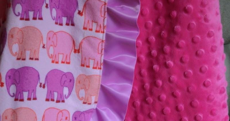 Mama Sew Crafty First Tutorial Ruffle Minky Baby Blanket