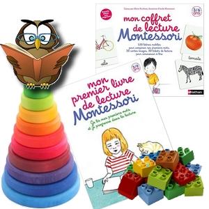 Le coffret de lecture Montessori premier livre de lecture Nathan apprentissage maternelle lettres mobiles graphèmes rugueux