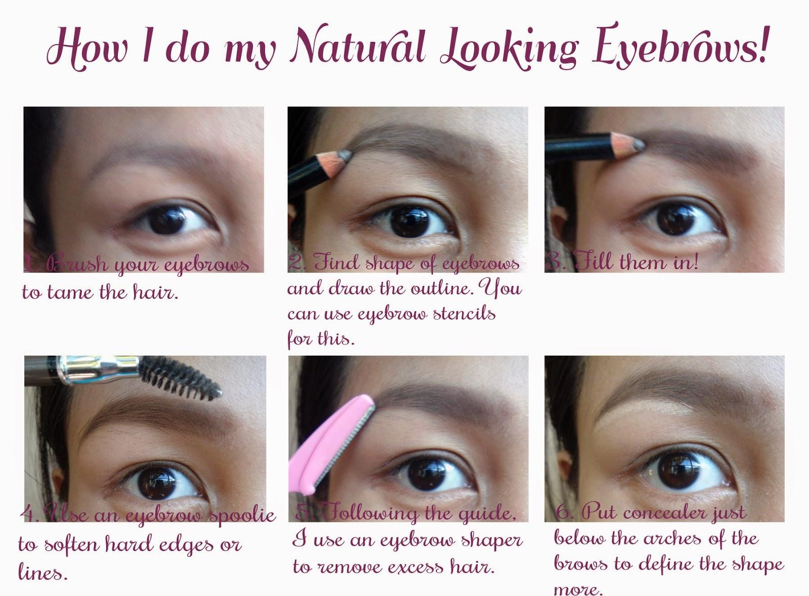 My Natural Looking Eyebrows ♥ - GeccaFrancisco