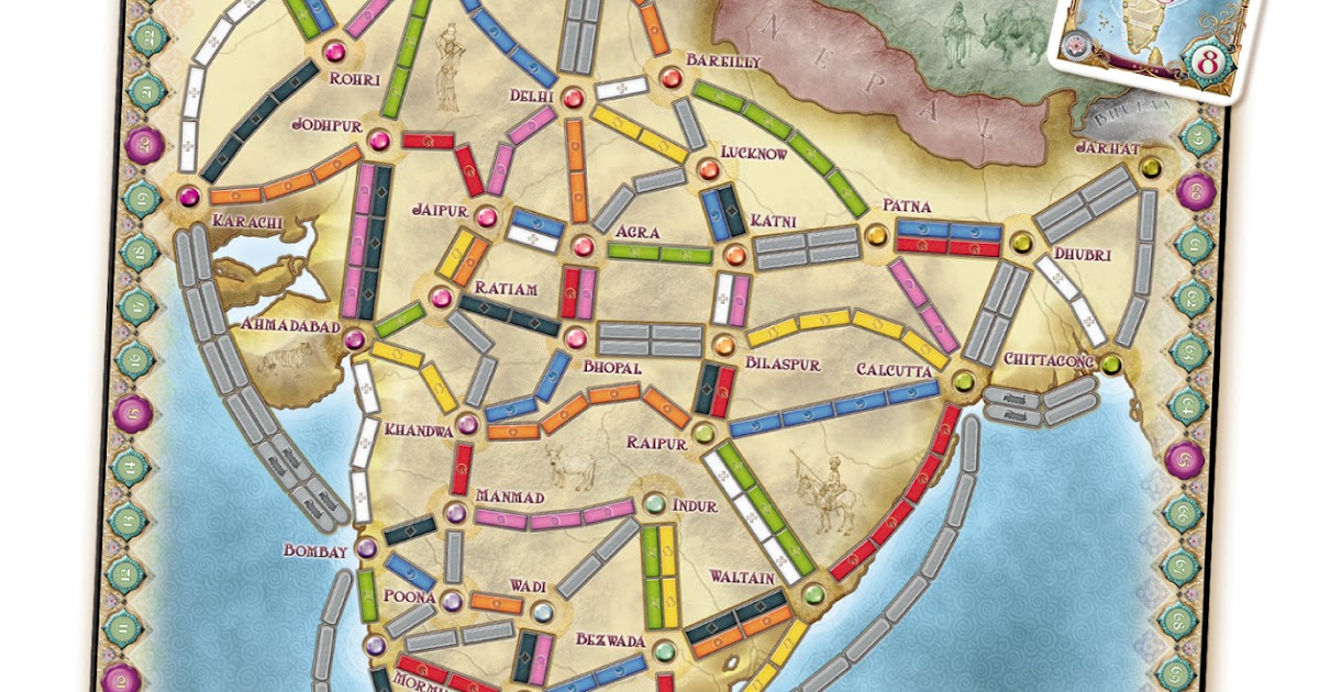 Ticket To Ride India Map.Death Of Monopoly The New Ticket To Ride Maps