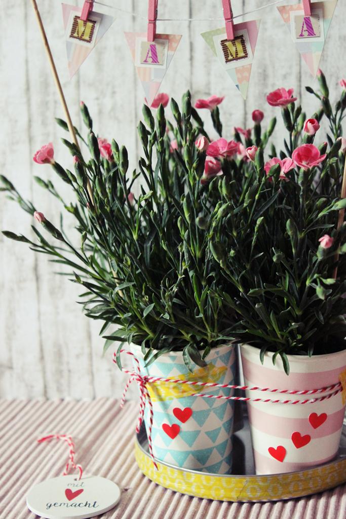 Diy Last Minute Muttertags Blumen Geschenk