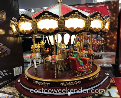Bring out the Christmas spirit with the Mr. Christmas Deluxe Carousel