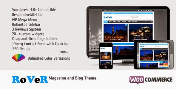 RoVeR - Magazine/Blog WordPress Theme