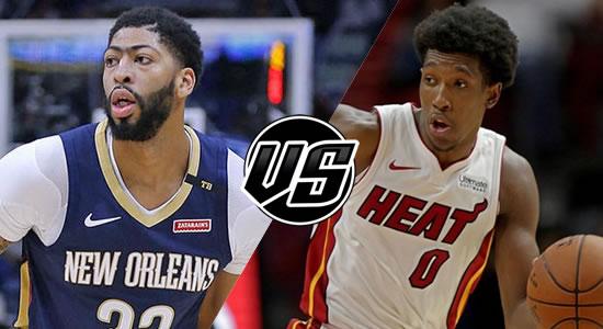 Live Streaming List: New Orleans Pelicans vs Miami Heat 2018-2019 NBA Season