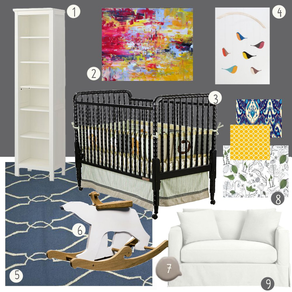 Area Fare Room Envy Gray And Colorful Nursery