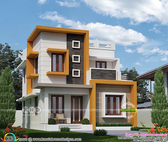 ₹21 lakhs cost estimated space saving modern home