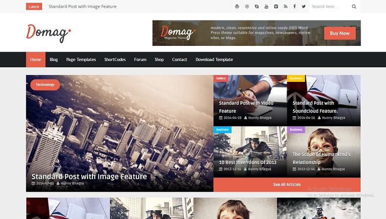 Download - DoMag - Responsive Elegant Blogger Template