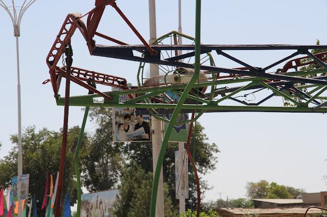 Ouzbékistan, Boukhara, Parc Samanides, manège, © L. Gigout, 2012