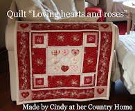 "Quilt ""Loving hearts and roses"""