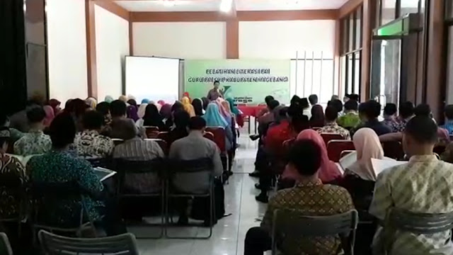 Para Guru PAI se-Kabupaten Magelang mengikuti Bimtek Literasi PAI