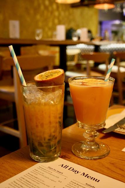 mocktails cocktails Ceru Mediterranean restaurant Kensington
