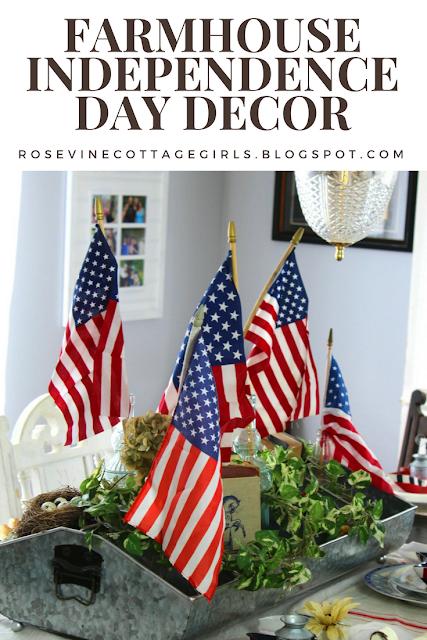 #4thofjuly #farmhouse #decorating #Independencedaydecorations #4thofjulydecor #farmhouse4thofjuly #interiordecorating #redwhiteandblue #america