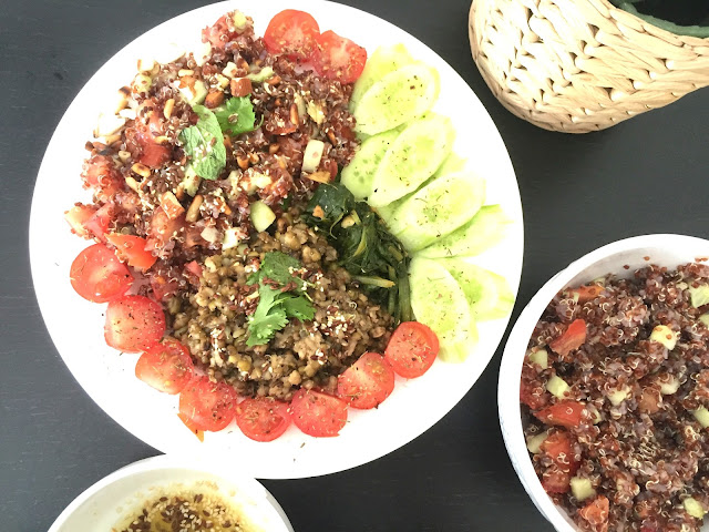 Red Quinoa Salad - Vegan Quinoa Recipe - Vegan Recipes - Organic Quinoa - Style Destino