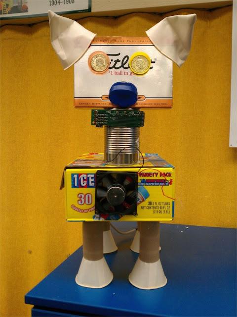 the david lubin art studio recycle robots