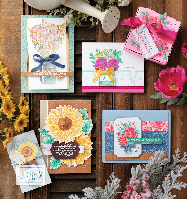 Flowers For Every Season Designer Series Paper flowers for every season suite celebrate sunflowers bundle  stamp punch 2020 2021 stampin' up! annual catalog nicole steele the joyful stamper independent stampin' up! demonstrator