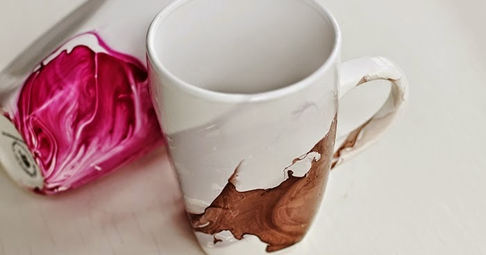 diy un mug d cor au vernis ongles initiales gg. Black Bedroom Furniture Sets. Home Design Ideas