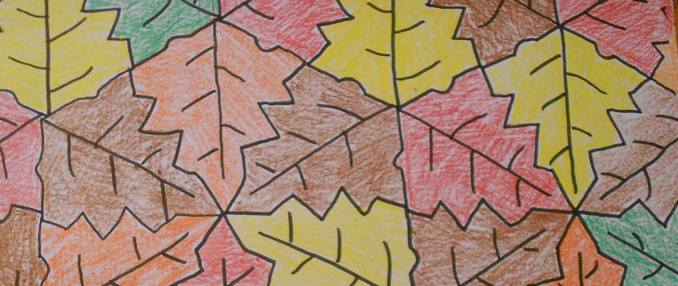 Almost Unschoolers: Fall Leaf Tessellation